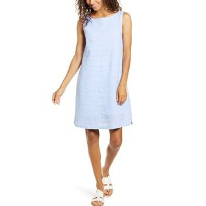 Beachlunchlounge Alina Stripe Linen Shift Dress